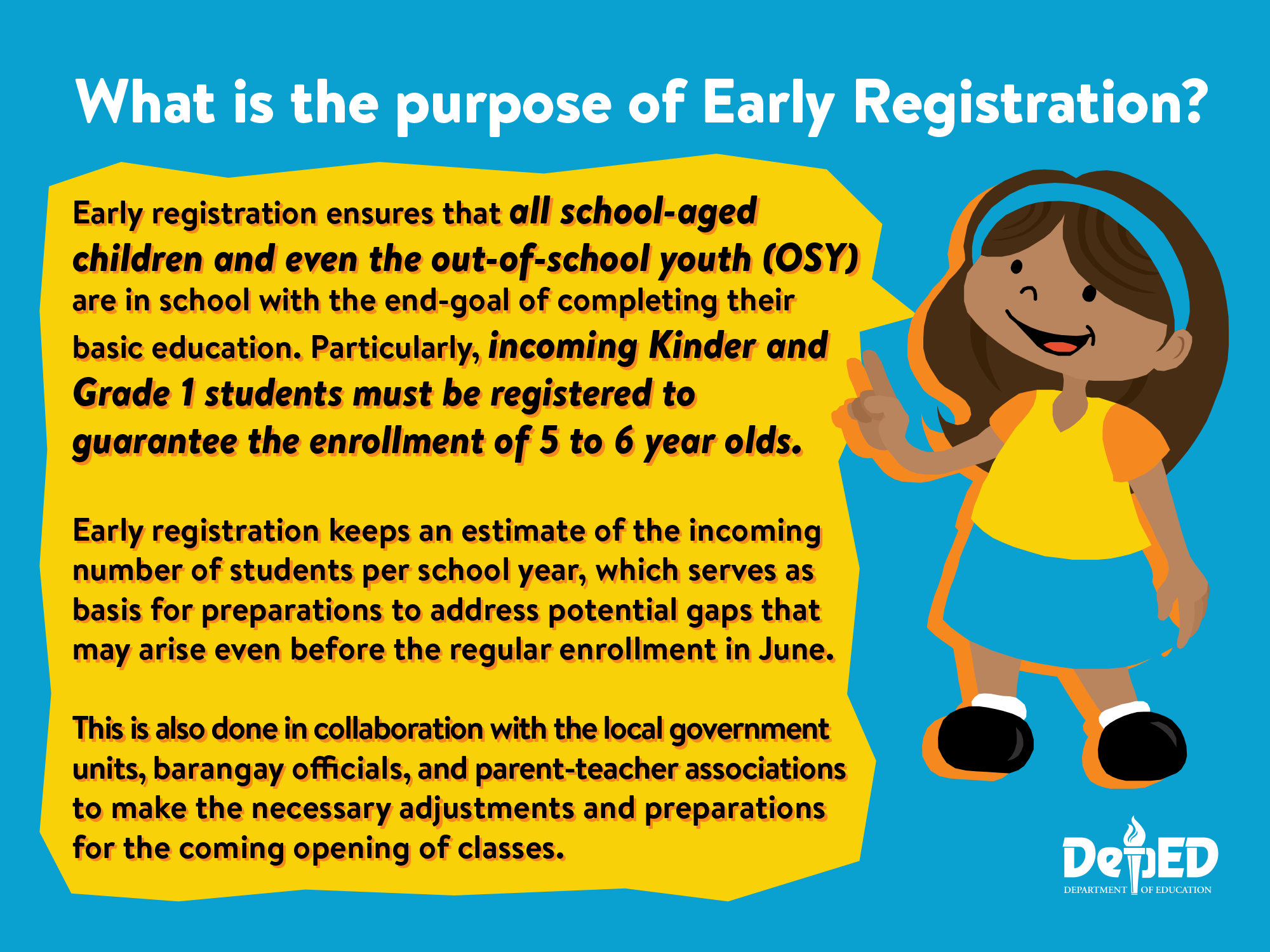 Early Registration Faqs Department Of Education