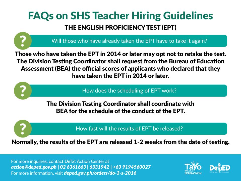 Senior High School Teacher Hiring Guidelines FAQs ...