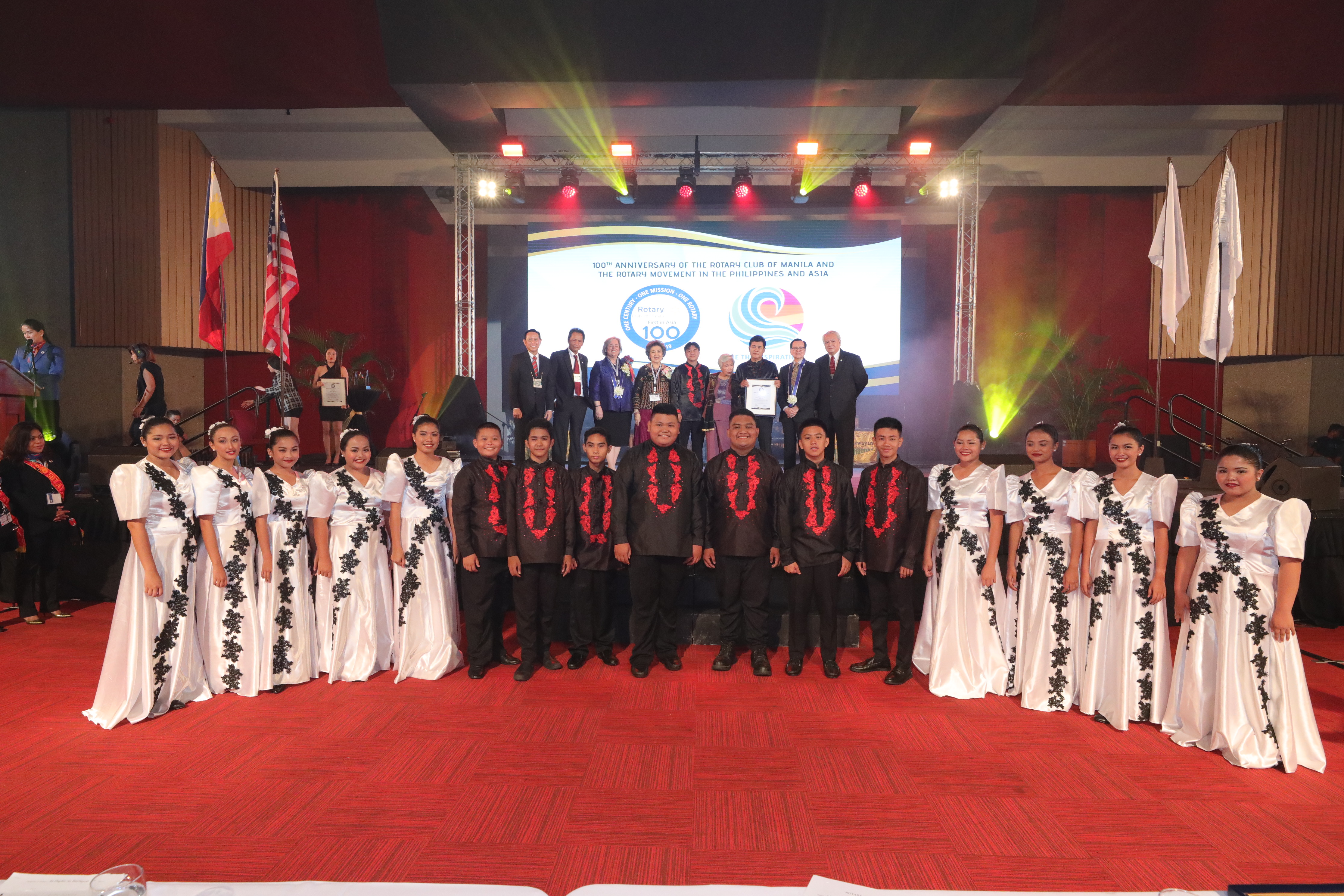 Briones lauds Rotary Club of Manila's centennial chorale